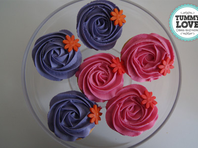 Roze/Paarse Cupcakes